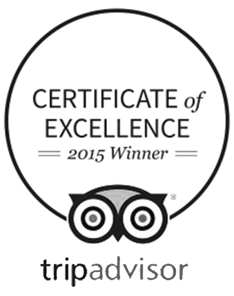 Certificate of Excellence 2015 Winner - Trip Advisor