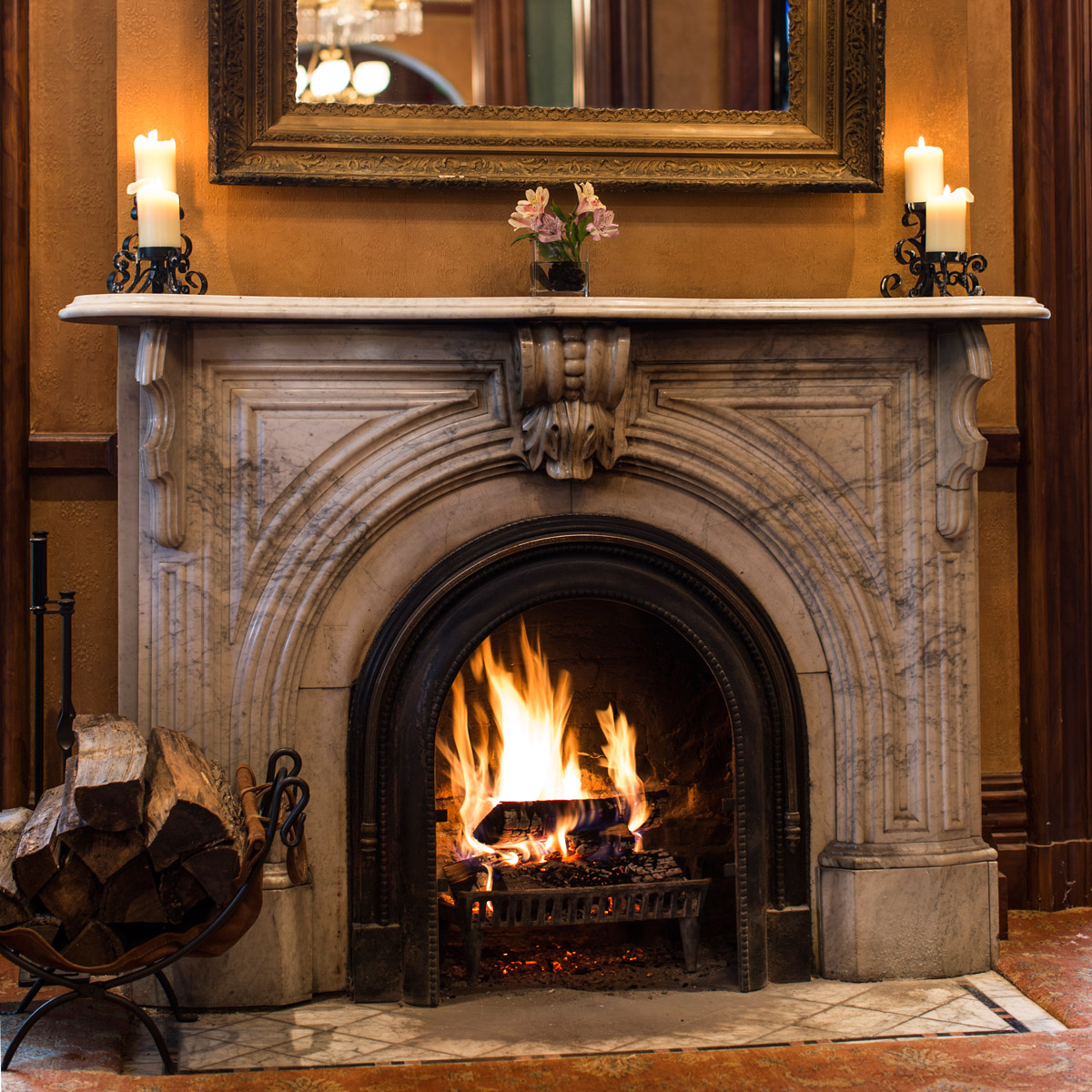 Wood Burning Fireplaces Mansion Hill Inn